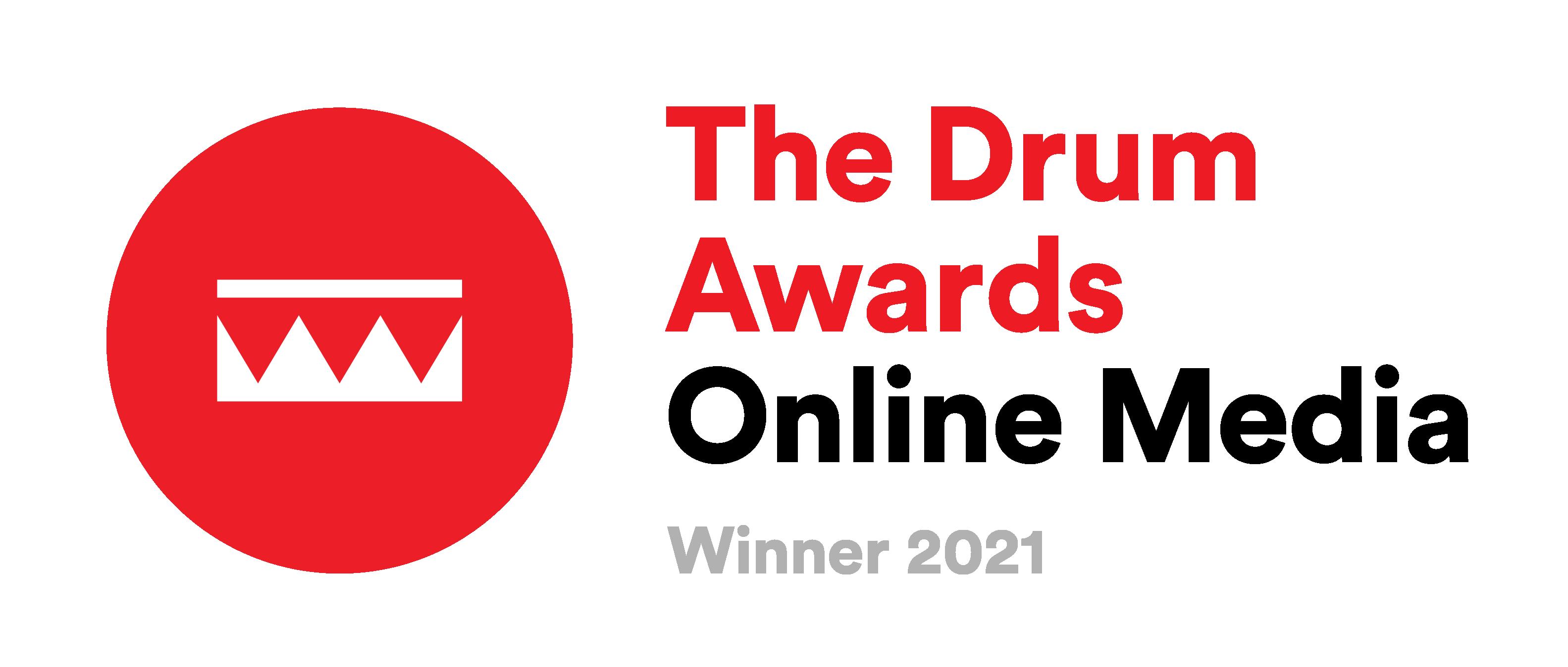 Drum online media awards winner badge